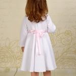Pikowana sukienka do chrztu Hania z długim rękawem