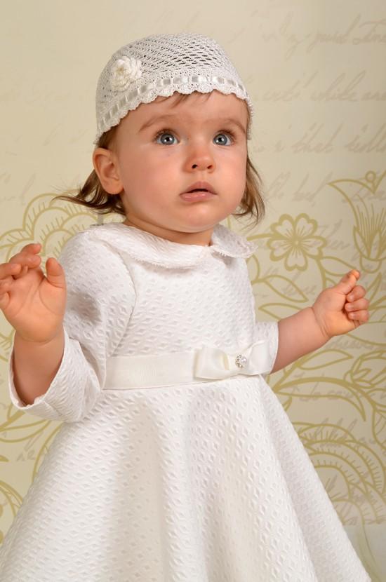 Ręcznie wykonana czapeczka do chrztu Paloma.