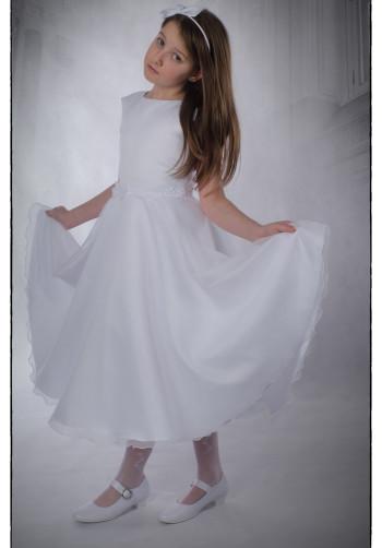 136bb9892a Sukienka komunijna Nel z delikatnie błyszczącymi cekinami - Suknie Venus