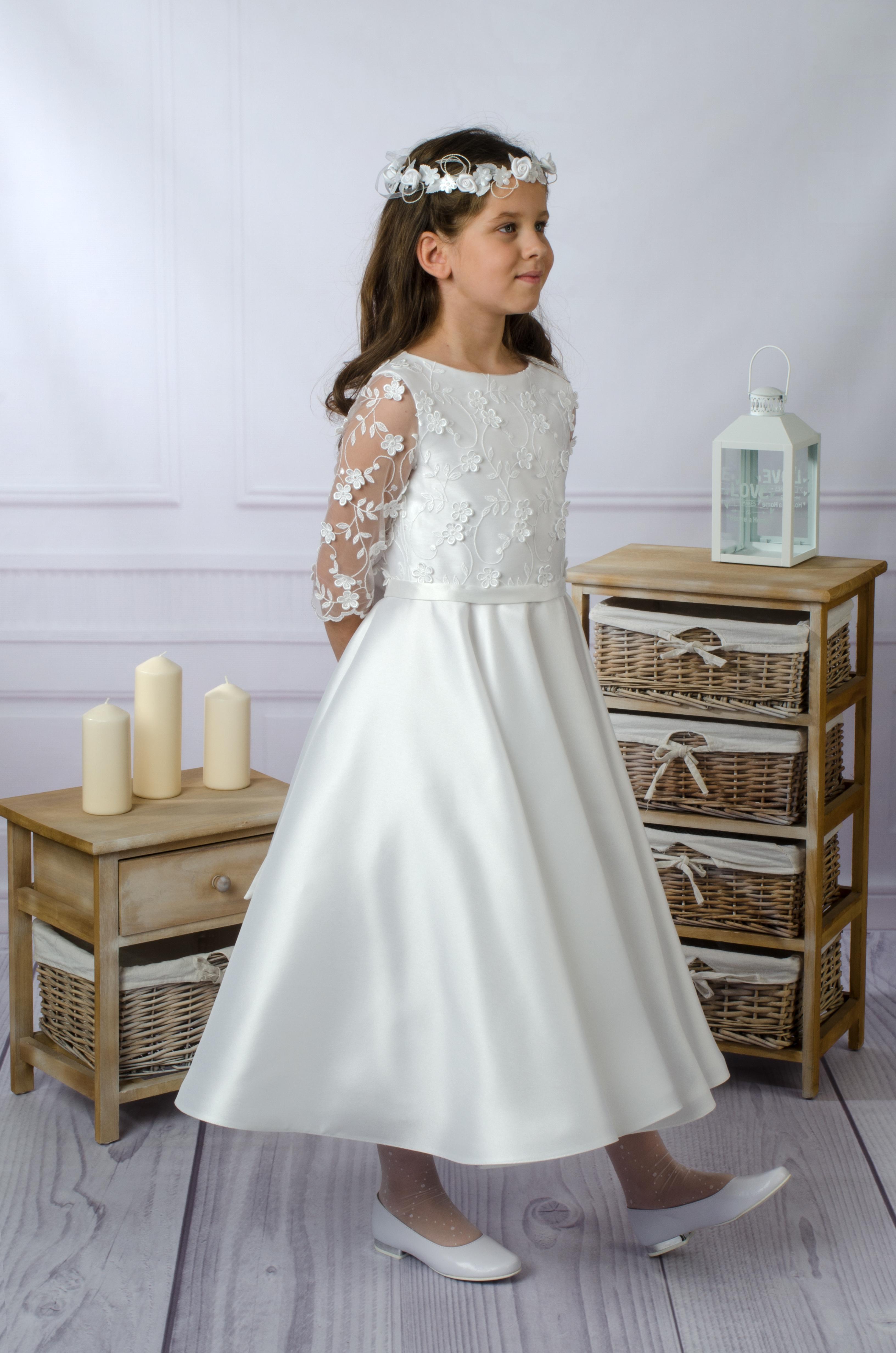 888870113c Archiwa  sukienka komunijna z długim rękawem - Suknie Venus