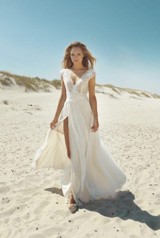 Suknia ślubna z przeźroczystościami Batylda