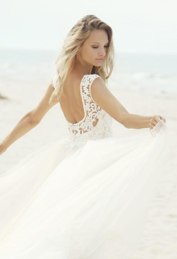 Tiulowa suknia ślubna Biako