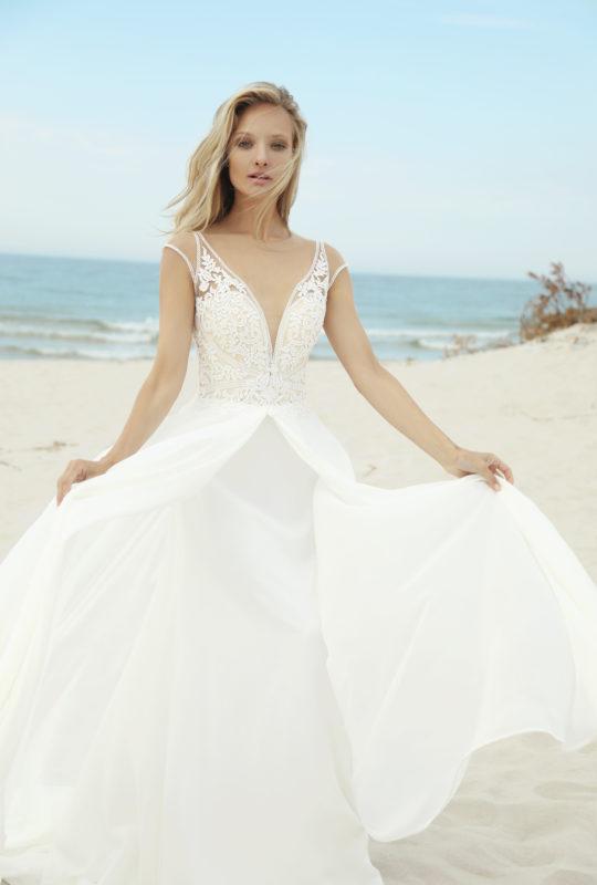 0289fea91a Przepiękna muślinowa suknia ślubna